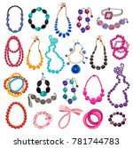collection of women's necklaces ... | Shutterstock .eps vector #781744783