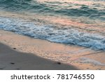 sea waves coming to the sandy... | Shutterstock . vector #781746550