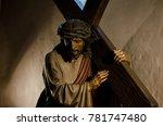 the statue of jesus bears the...   Shutterstock . vector #781747480