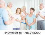 group of friendly seniors... | Shutterstock . vector #781748200