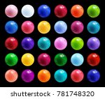 Set Of Colorful Round Vector...