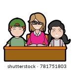 isolated teacher design | Shutterstock .eps vector #781751803