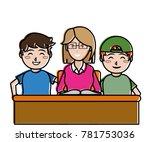 teacher and kids design | Shutterstock .eps vector #781753036