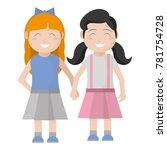 girls cartoons design | Shutterstock .eps vector #781754728