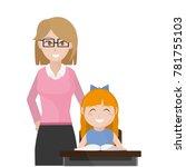 teacher and girl design | Shutterstock .eps vector #781755103