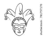 isolated mask design | Shutterstock .eps vector #781757170