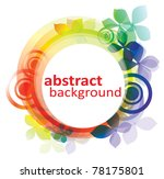 vector rainbow colored... | Shutterstock .eps vector #78175801