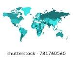 political map of world.... | Shutterstock .eps vector #781760560