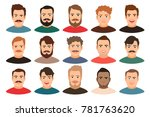 cartoon handsome young guy... | Shutterstock . vector #781763620