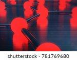 3d rendering of graphene atomic ... | Shutterstock . vector #781769680