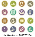 faculty of biology vector icons ... | Shutterstock .eps vector #781770964