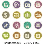 e commers vector icons for user ... | Shutterstock .eps vector #781771453