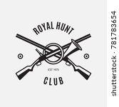 vintage style hunt club logo... | Shutterstock . vector #781783654