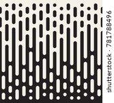 vector seamless irregular lines.... | Shutterstock .eps vector #781788496