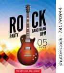 rock festival flyer event... | Shutterstock .eps vector #781790944