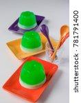 Small photo of Colorful Agar-agar (jelly) dessert