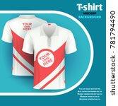 mens t shirt mockup advertising ... | Shutterstock . vector #781794490