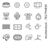 soccer competition line icons.... | Shutterstock . vector #781794850