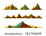 vector illustration mountains... | Shutterstock .eps vector #781796059