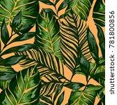 watercolor seamless pattern... | Shutterstock .eps vector #781800856