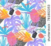 creative hand drawn textures.... | Shutterstock .eps vector #781802353