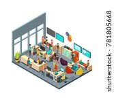 relaxed creative people meeting ... | Shutterstock . vector #781805668