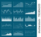 business data financial charts. ... | Shutterstock . vector #781806103