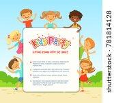 poster for children party.... | Shutterstock . vector #781814128