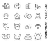 linear icons set of... | Shutterstock . vector #781814230