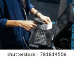 point of sales shot  barcode or ... | Shutterstock . vector #781814506