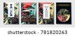 cool fluid paint cover template.... | Shutterstock .eps vector #781820263