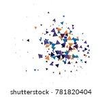 cool explosion  broken glass ...   Shutterstock .eps vector #781820404