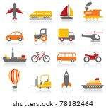 transportation icons | Shutterstock .eps vector #78182464