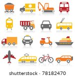 transportation icons | Shutterstock .eps vector #78182470