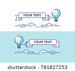 hot air balloon in the sky with ... | Shutterstock .eps vector #781827253