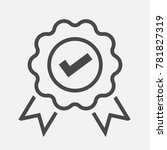 approved or certified badge... | Shutterstock .eps vector #781827319