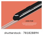 bullet train silhouette simple... | Shutterstock .eps vector #781828894