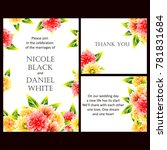 romantic invitation. wedding ... | Shutterstock .eps vector #781831684