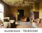 Living Room Of An Abandoned An...