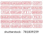 business stamp illustration set....