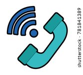 telephone service with waves...