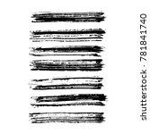 brush stroke set. texture. | Shutterstock .eps vector #781841740
