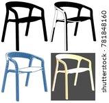 modern armchair illustration... | Shutterstock .eps vector #781848160
