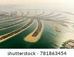 the artificial jumeirah palm... | Shutterstock . vector #781863454