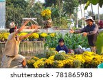 sa dec flower village   sa dec... | Shutterstock . vector #781865983