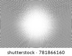 black and white dotted... | Shutterstock .eps vector #781866160