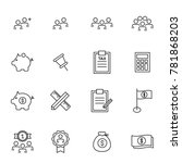 people icons line work group... | Shutterstock .eps vector #781868203