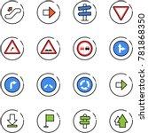 line vector icon set  ... | Shutterstock .eps vector #781868350