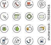line vector icon set   antenna... | Shutterstock .eps vector #781868416