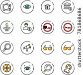 line vector icon set   tv... | Shutterstock .eps vector #781868686